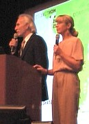 Peter Bonenberger + Marianne Bonenberger, Master conservationists, giving lecture for international audience